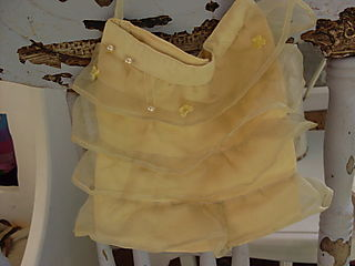 Vintage lemon ruffle bag
