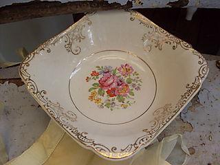 Vintage square bowl